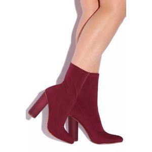 Brand New Burgundy Booties